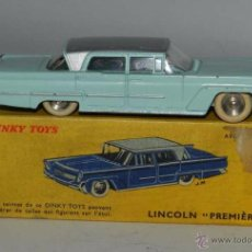 Coches a escala: COCHE LINCOLN PREMIERE, REF. 532, WITH ITS ORIGINAL BOX DINKY TOYS, MECCANO, MADE IN FRANCE, AÑOS 19. Lote 54388007