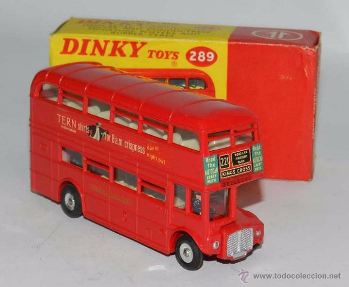 DOUBLE DECKER ROUTEMASTER BUS TERN SHIRTS DIECAST METAL MODEL, REF. 289, WITH ITS ORIGINAL BOX DINKY (Juguetes - Coches a Escala 1:43 Dinky Toys)