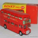 Coches a escala: DOUBLE DECKER ROUTEMASTER BUS TERN SHIRTS DIECAST METAL MODEL, REF. 289, WITH ITS ORIGINAL BOX DINKY. Lote 54405850