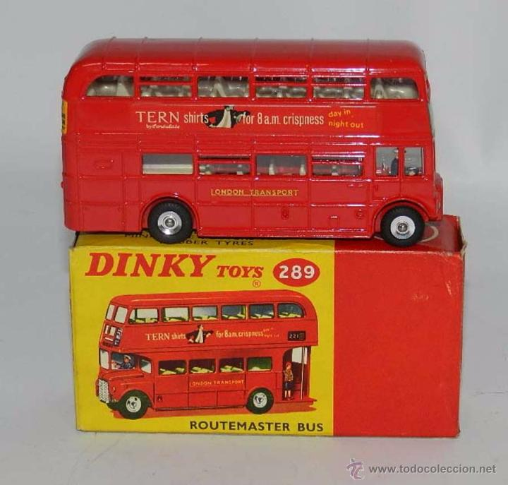 Coches a escala: Double Decker Routemaster Bus Tern Shirts Diecast Metal Model, REF. 289, WITH ITS ORIGINAL BOX DINKY - Foto 2 - 54405850