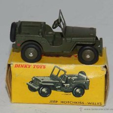 Coches a escala: COCHE JEEP Nº 80 BP, WITH ITS ORIGINAL BOX DINKY TOYS, MECCANO, MADE IN FRANCE, AÑOS 1950 / 60, COMP. Lote 54406580