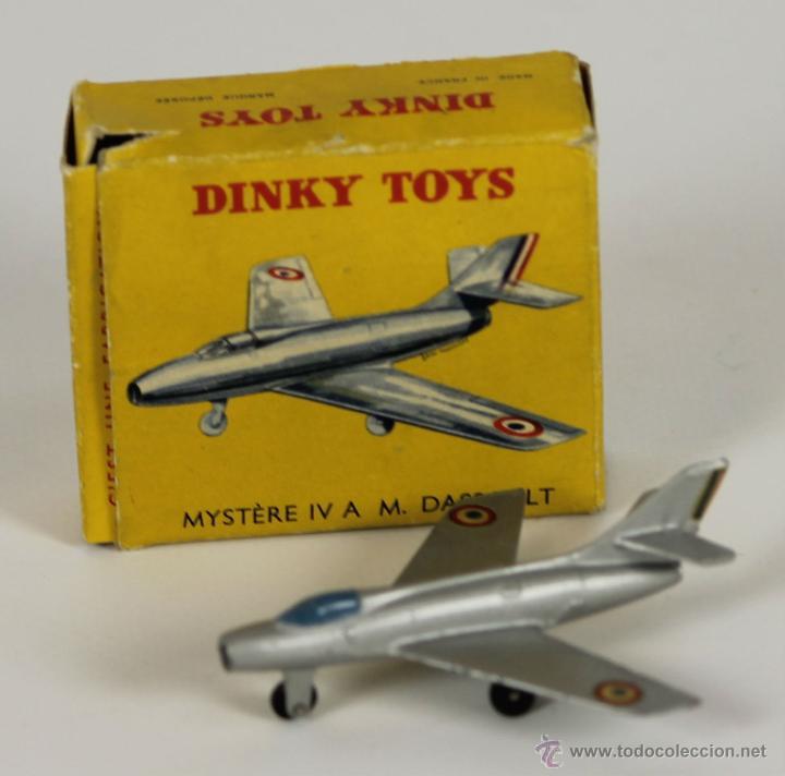 AVION DINKY TOYS. MYSTERE IV. MODELO 60A. CAJA ORIGINAL. FRANCIA 1950. (Juguetes - Coches a Escala 1:43 Dinky Toys)