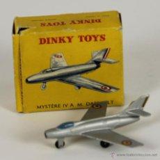 Coches a escala: AVION DINKY TOYS. MYSTERE IV. MODELO 60A. CAJA ORIGINAL. FRANCIA 1950.. Lote 52863342