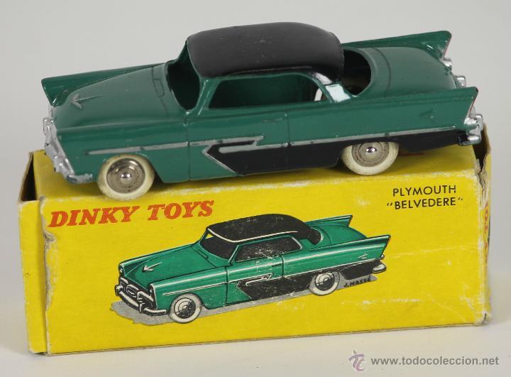 DINKY TOYS. MODELO 24D. PLAYMOUTH BELVEDERE. CAJA ORIGINAL 1950. (Juguetes - Coches a Escala 1:43 Dinky Toys)