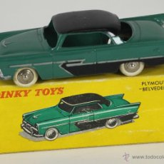 Model Cars - DINKY TOYS. MODELO 24D. PLAYMOUTH BELVEDERE. CAJA ORIGINAL 1950. - 52863924
