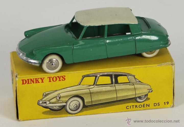Coches a escala: DINKY TOYS. MODELO 24C. CITROEN DS 19. CAJA ORIGINAL. COLOR VERDE. 1950. - Foto 1 - 52875449