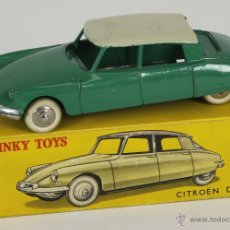 Coches a escala - DINKY TOYS. MODELO 24C. CITROEN DS 19. CAJA ORIGINAL. COLOR VERDE. 1950. - 52875449