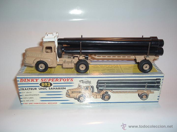 DINKY TOYS , TRACTEUR UNIC SAHARIEN, UNIC PIPE TRUCK, REF. 39B 893. (Juguetes - Coches a Escala 1:43 Dinky Toys)