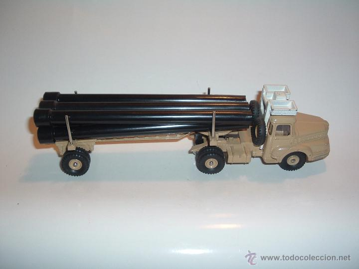 Coches a escala: DINKY TOYS , TRACTEUR UNIC SAHARIEN, UNIC PIPE TRUCK, REF. 39B 893. - Foto 2 - 54977550