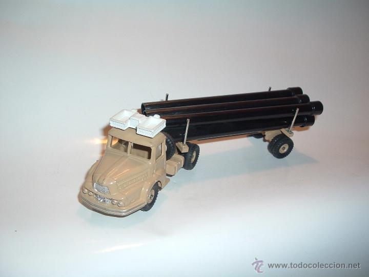 Coches a escala: DINKY TOYS , TRACTEUR UNIC SAHARIEN, UNIC PIPE TRUCK, REF. 39B 893. - Foto 4 - 54977550