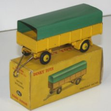 Coches a escala: REMORQUE BACHÉE EN METAL. DINKY TOYS. 1/43.70. MADE IN FRANCE. CIRCA 1950. . Lote 57086959