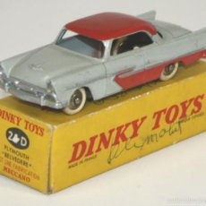 Coches a escala: PLYMOUTH BELVEDERE EN METAL. DINKY TOYS. 1/43. 24 D. MADE IN FRANCE. CIRCA 1950.. Lote 57098400
