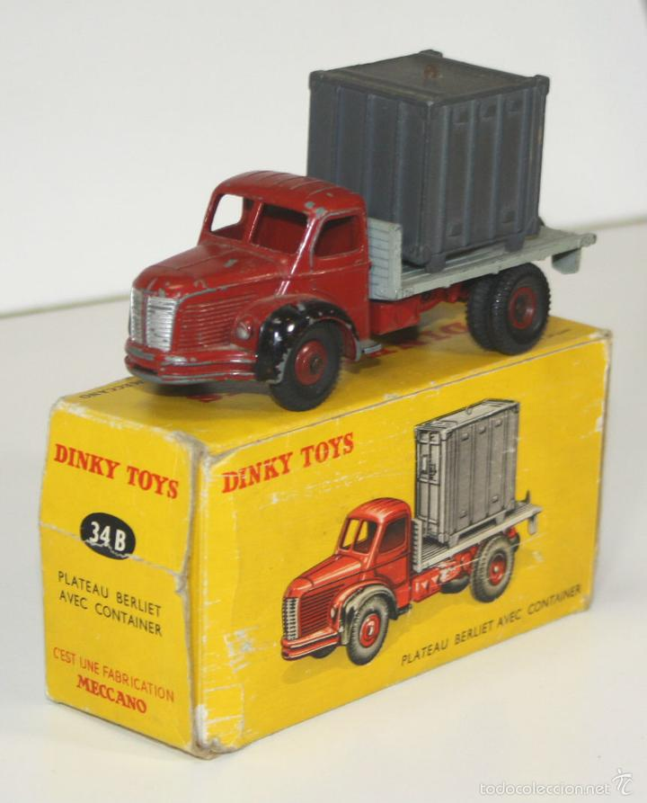 BERLIET EN METAL. DINKY TOYS. 1/43. REF 34. MADE IN FRANCE. CIRCA 1950. (Juguetes - Coches a Escala 1:43 Dinky Toys)