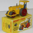 Coches a escala: ROULEAU COMPRESSEUR RICHIER EN METAL. DINKY TOYS. 1/43. 90 A. MADE IN FRANCE. . Lote 57143896