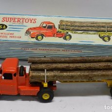 Coches a escala: ANTIGUOTRACTEUR WILLEME AVEC SEMI-REMORQUE FARDIER, DINKY SUPERTOYS, 36 A, MADE IN FRANCE, CAMION CO. Lote 63855803