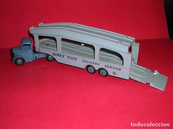 Coches a escala: DINKY 982 (1960) PULLMORE CAR TRANSPORTER + RAMPA DINKY 794 .CON CAJAS ORIGINALES - Foto 2 - 70105965