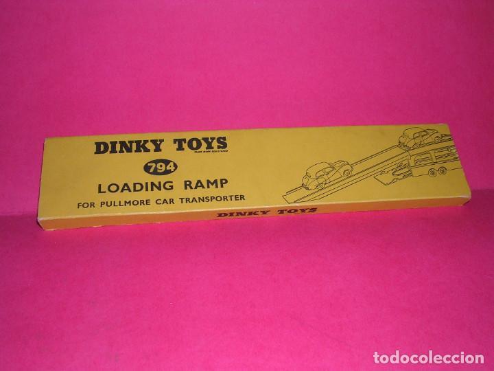 Coches a escala: DINKY 982 (1960) PULLMORE CAR TRANSPORTER + RAMPA DINKY 794 .CON CAJAS ORIGINALES - Foto 9 - 70105965