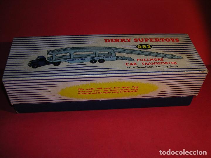 Coches a escala: DINKY 982 (1960) PULLMORE CAR TRANSPORTER + RAMPA DINKY 794 .CON CAJAS ORIGINALES - Foto 10 - 70105965