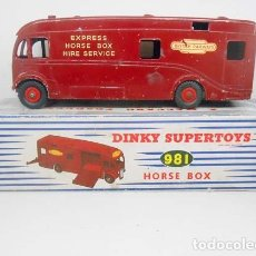 558 DINKY TOYS REF 981 HORSE BOX MECCANO TRUCK CAMION EXPRES BRITISH RAILWAYS
