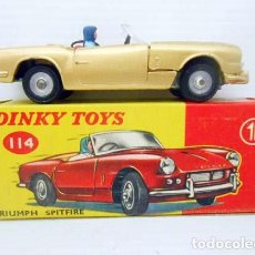 Model Cars - 672. DINKY TOYS IN BOX TRIUMPH SPITFIRE Nº 114 MODEL CAR METAL COCHE ENGLAND - 76530595