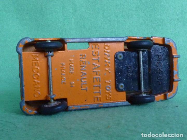 Coches a escala: BONITA FURGONETA MECCANO DINKY TOYS 1961 RENAULT ESTAFETTE PICK-UP Nº 563 COLECCION VINTAGE - Foto 5 - 76778631