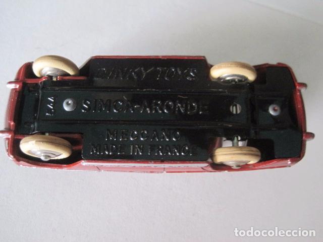 Coches a escala: COCHE - DINKY TOYS - FRANCE MECCANO - ANTIGUO - SIMCA ARONDE -VER FOTOS -(V-10.858) - Foto 6 - 85637684