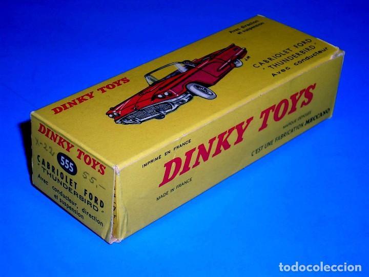 CAJA VACÍA EMPTY BOX CABRIOLET FORD THUNDERBIRD REF. 555, ESC. 1/43, DINKY TOYS. ORIGINAL AÑOS 60. (Juguetes - Coches a Escala 1:43 Dinky Toys)