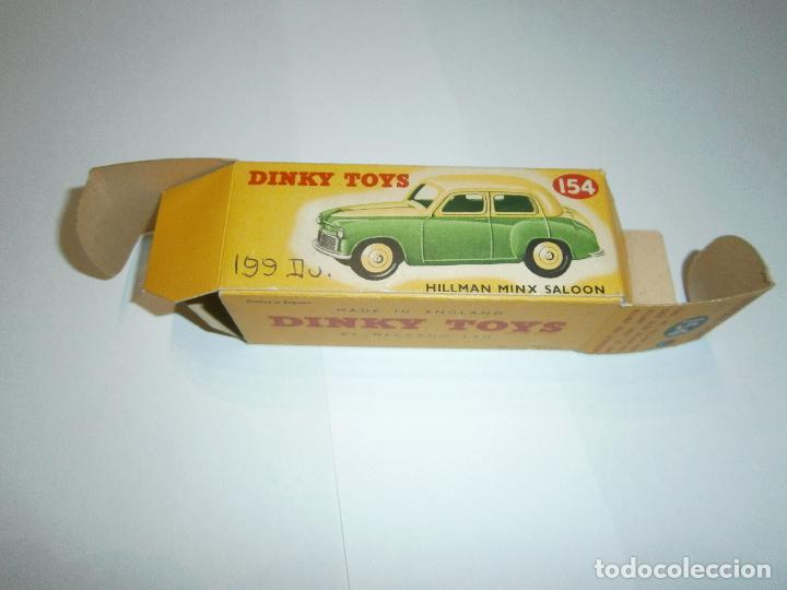 Coches a escala: HILLMAN MINX SALOON, DE DINKY TOYS, REF. 154-G, ORIGINAL 1954, MINT IN BOX. - Foto 16 - 38407127