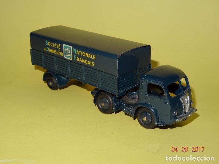 Coches a escala: Antiguo Camión con Toldo PANHARD de SNCF de DINKY TOYS Made in France por MECCANO - Foto 2 - 95048623