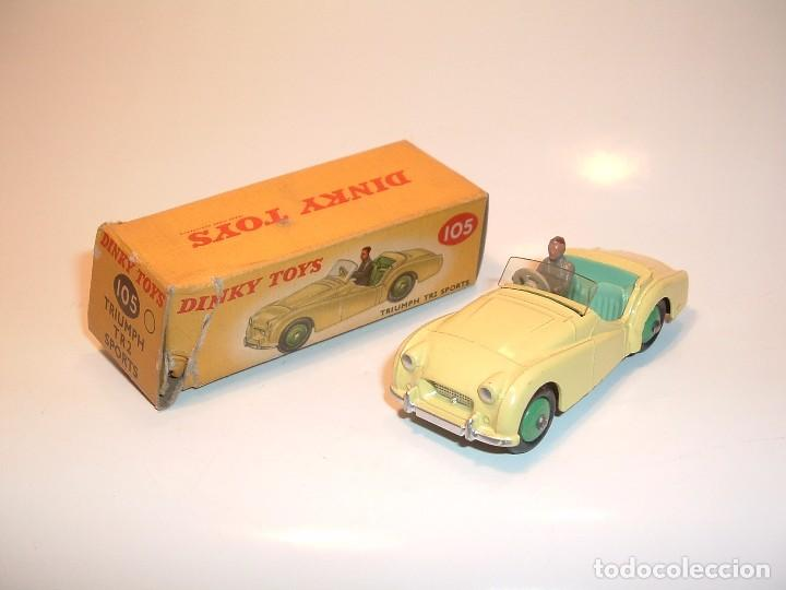 DINKY TOYS, TRIUMPH TR2 SPORTS, REF. 105 (Juguetes - Coches a Escala 1:43 Dinky Toys)