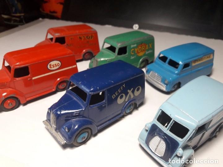 COLECCION DINKY TOYS FURGONES TROJAN, MORRIS Y BEDFORD ENGLAND MECCANO 1954/57 (Juguetes - Coches a Escala 1:43 Dinky Toys)