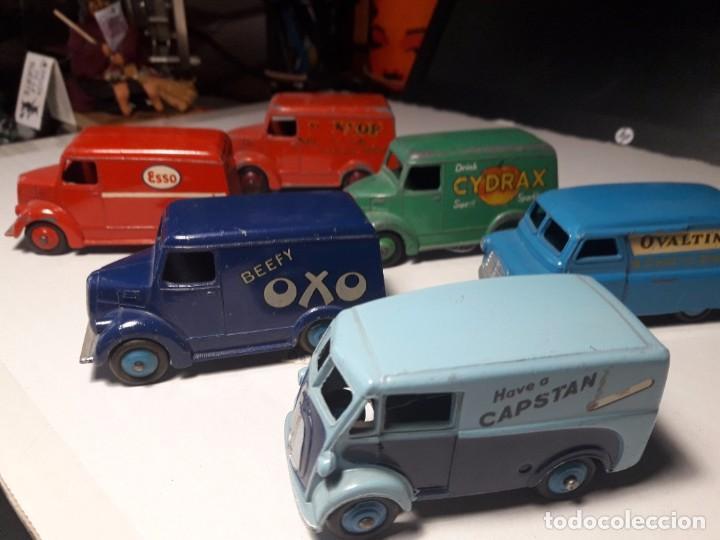 Coches a escala: Coleccion Dinky Toys Furgones Trojan, Morris y Bedford England Meccano 1954/57 - Foto 2 - 101539015