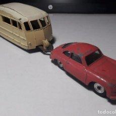 Model Cars - Pareja Dinky Toys 1950´s de Porsche 356a + Carabana - 101539107