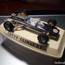 Coches a escala: AUTO PILEN MADE IN SPAIN LOTUS - CLIMAX F.1 AÑO 1969. ORIGINAL. TIPO DINKY O CORGI TOYS. Lote 101543551