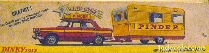 Dinky Toys 882 404 Peugeot Et Caravane Pinder Sold At