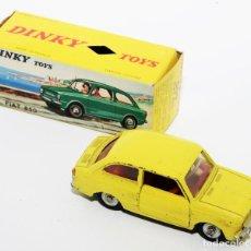 Coches a escala: DINKY TOYS 509 - FIAT 850 AMARILLO - INTERIOR ROJO - AÑOS 60 - CON CAJA. Lote 120190631