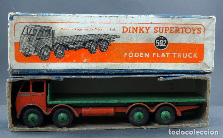 CAMIÓN FODEN FLAT TRUCK DINKY SUPERTOYS CON CAJA 502 1/43 MADE IN ENGLAND (Juguetes - Coches a Escala 1:43 Dinky Toys)