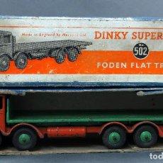 Coches a escala: CAMIÓN FODEN FLAT TRUCK DINKY SUPERTOYS CON CAJA 502 1/43 MADE IN ENGLAND. Lote 120417779