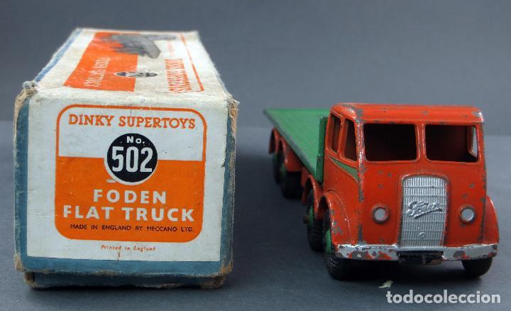 Coches a escala: Camión Foden Flat Truck Dinky Supertoys con caja 502 1/43 Made in England - Foto 2 - 120417779