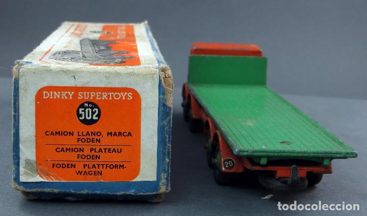 Coches a escala: Camión Foden Flat Truck Dinky Supertoys con caja 502 1/43 Made in England - Foto 3 - 120417779