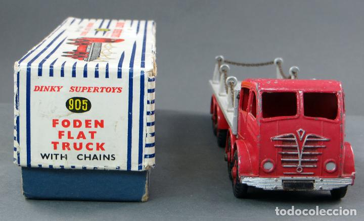 Coches a escala: Camión Foden Flat Truck Dinky Supertoys with Chains con caja 905 1/43 Made in England - Foto 2 - 120418111