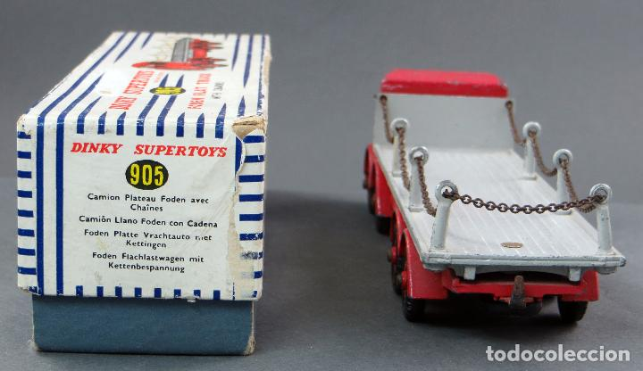 Coches a escala: Camión Foden Flat Truck Dinky Supertoys with Chains con caja 905 1/43 Made in England - Foto 3 - 120418111