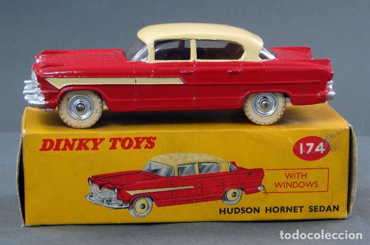 HUDSON HORNET SEDAN DINKY TOYS MADE IN ENGLAND CON CAJA 174 1/43 AÑOS 50 (Juguetes - Coches a Escala 1:43 Dinky Toys)