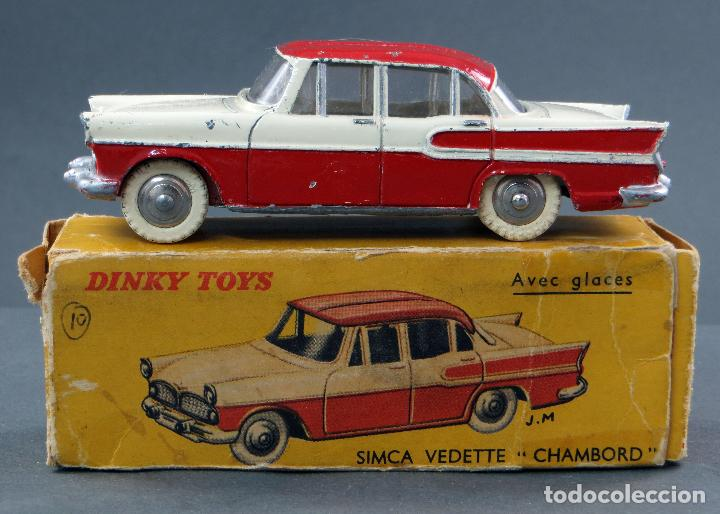 SIMCA VEDETTE CHAMBORD CRISTALES DINKY TOYS MADE IN FRANCE CON CAJA 174 1/43 AÑOS 50 (Juguetes - Coches a Escala 1:43 Dinky Toys)