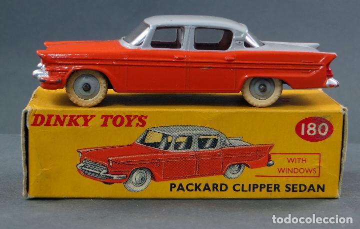 PACKARD CLIPPER SEDAN CRISTALES DINKY TOYS MADE IN ENGLAND CON CAJA 180 1/43 AÑOS 50 (Juguetes - Coches a Escala 1:43 Dinky Toys)