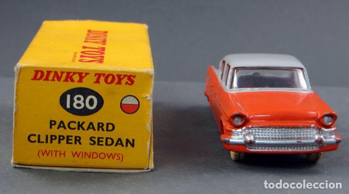 Coches a escala: Packard Clipper Sedan cristales Dinky Toys Made in England con caja 180 1/43 años 50 - Foto 2 - 120420083