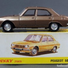 Coches a escala: PEUGEOT 504 DINKY TOYS MADE IN SPAIN CON CAJA 1/43 AÑOS 70. Lote 120423687