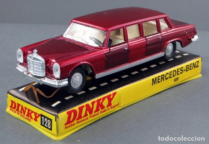 Coches a escala: Mercedes Benz 600 Limousine Dinky Toys Made in England con caja 1/43 años 70 - Foto 2 - 120531463