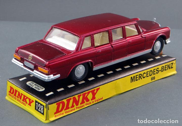 Coches a escala: Mercedes Benz 600 Limousine Dinky Toys Made in England con caja 1/43 años 70 - Foto 3 - 120531463