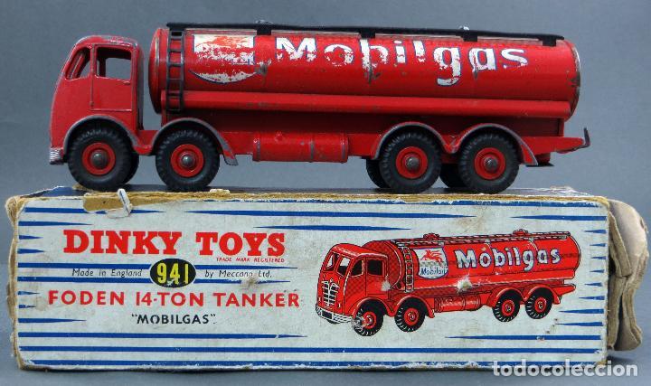 CISTERNA MOBILGAS FODEN 14 TON TANKER DINKY SUPERTOYS MADE IN FRANCE CON CAJA 941 1/43 AÑOS 60 (Juguetes - Coches a Escala 1:43 Dinky Toys)